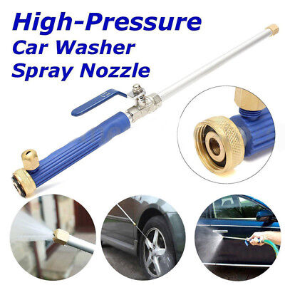 High Pressure Power Car Washer Spray Nozzle Hose Wand Attachment Hydro Water Jet