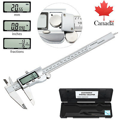 "8"" Electronic LCD Digital Vernier Caliper Micrometer Gauge Tool Ranging 0 - 8"""