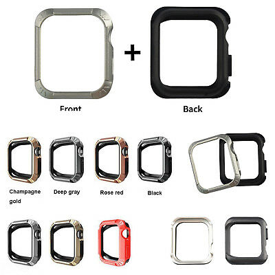 Shockproof TPU + PC Armor Case Bumper Frame Protector for Apple Watch 4 40/44mm