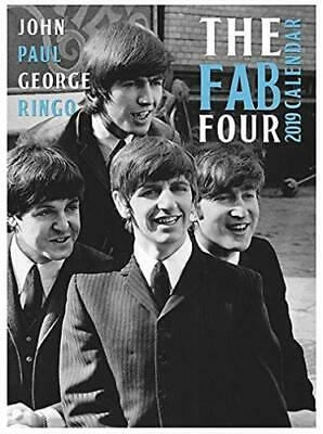 The Beatles FAB Four 2019 Wall Calendar Large A3 Poster Size