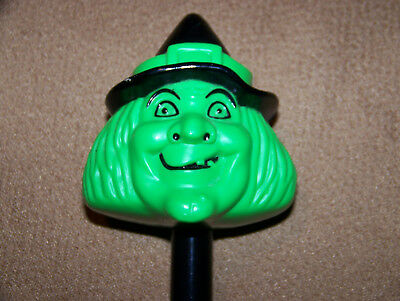 Vintage Halloween Blow Mold Witch Head Flashlight Trick or Treat