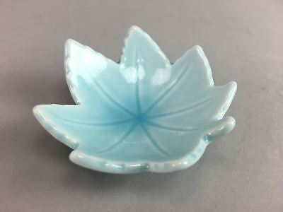 Vtg Japanese Soy Sauce Dish Small Bowl Pottery Dipping Sushi Ceramic Blue PT46