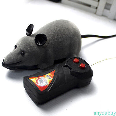 Wireless Remote Control RC Electronic Rat Mouse Mice Toy For Cat Puppy Gift r7nD