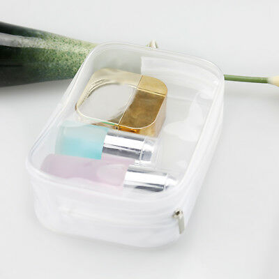 Clear Transparent Plastic PVC Travel Makeup Cosmetic Toiletry Zip Bag Hot D0Wr