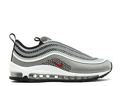 Nike Air Max 97 Ultra 17 Silver Red Sneakers Uomo Donna Original 918356 003