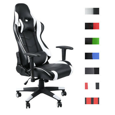 XL Racing Bürostuhl Turbo Stoff Gaming Drehstuhl 150kg Belastbar Chefsessel BUY-