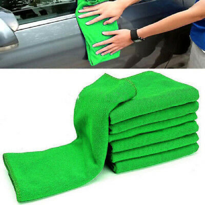 Hot 10Pcs Microfiber Washcloth Auto Car Care Cleaning Towel Soft Cloths Duster
