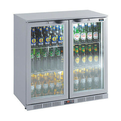 Lec BC9007GLED Double Door Bottle Cooler Silver FA0146