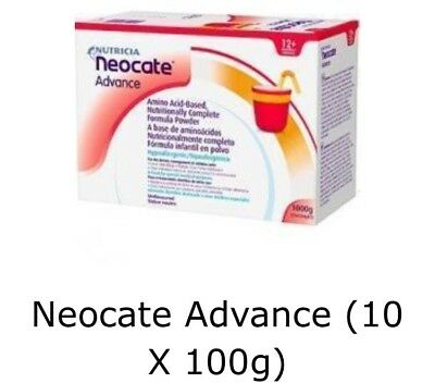 NEOCATE ADVANCE SACHETS - 10 X 100G UNFLAVOURED New & Sealed