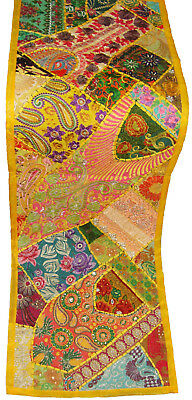 Wall Hanging Table Runner Wall Tapestry Indian Patch Work Embroider Magnificent