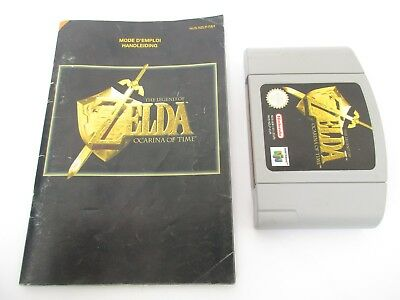 THE LEGEND OF ZELDA OCARINA OF TIME - NINTENDO 64 - Jeu N64 PAL avec Notice FAH