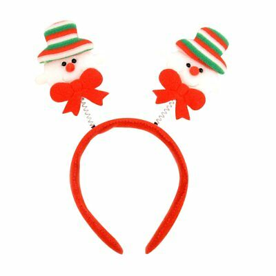 2748c166c4426 Red Christmas and Holiday Snowman Headband One Size Fits Most Party Costume