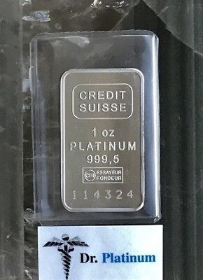 Credit Suisse, 1 oz 999.5 Platinum Bar - DPPB1