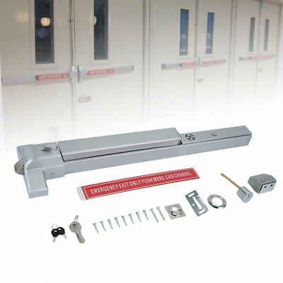 "65cm Door Push Bar Panic Exit Device with Alarm for 28""-36"" Wood Metal Door MY"