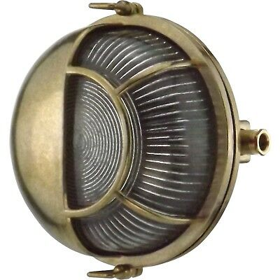 Orbis Brass Bulkhead Round Outdoor Waterproof lamp Light Nautical Marine lamp