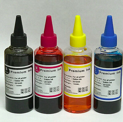 EDIBLE INK REFILL Kit SET FOR CANON PRINTERS - 400ml plus syringe needle