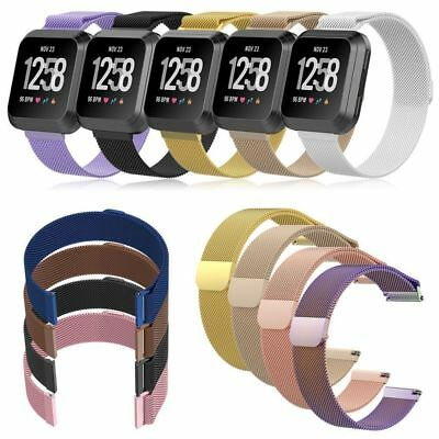Milanese Magnetic Stainless Steel Band Strap for Fitbit Versa/Apple Watch 4/3/2