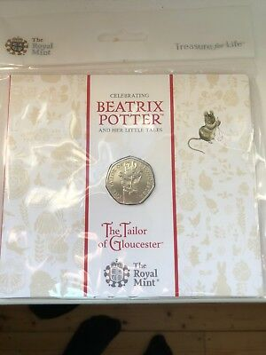 2018 BEATRIX POTTER 50p COIN PACK THE TAILOR OF GLOUCESTER ** IN STOCK  **