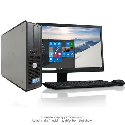 Dell/hp Dual Core Desktop Tower Pc Computer Systems Window 10,4Gb,250Gb