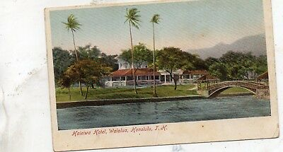 HALEIWA HOTEL  WAIALUA  HONOLULU  HAWAII  HAWAIIAN ISLANDS undivided back