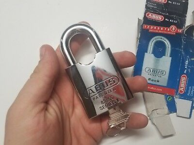 ABUS ROCK 83/55 High Security Padlock Unused Open Box Chrome Key 9 rating
