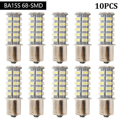10X 1156 68SMD LED P21W BA15S Turn Tail Frein Indicateur Voiture Ampoule 12V