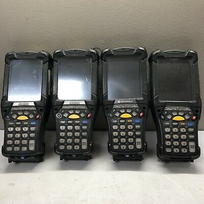 Lot of 4x Symbol Motorola MC9090 Part# MC9090-SK0HJAFA65R Scanners