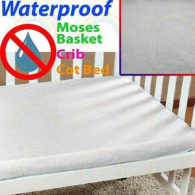 WATERPROOF cot bed MATTRESS PROTECTOR crib moses basket PILLOW case TERRY SHEET