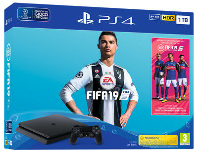 Playstation 4 PS4 1TB Chassis F Console + FIFA 19 Bundle