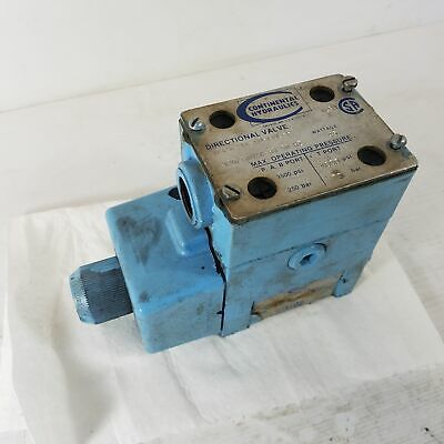 Continental Hydraulics VS12M-1A-GB-60L-H Directional Solenoid Hydraulic Valve