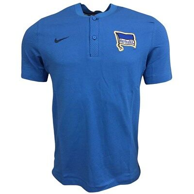 2017-2018 Hertha Berlin Nike Authentic Polo Shirt (Blue) M
