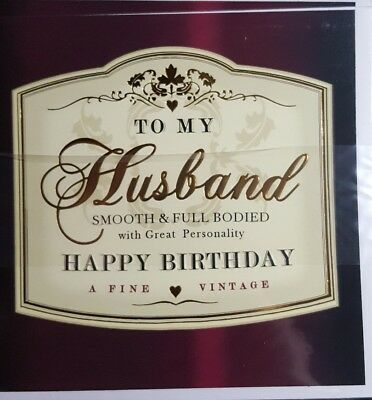 Hotchpotch To My Husband Happy Birthday Blank Greeting Card New Gift Love