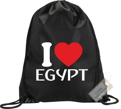 I Love Egipto Mochila Bolsa Gimnasio Saco Backpack Bag Gym Egypt Sport