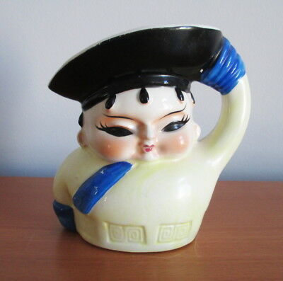 Vintage Japan Toby Jug Admiral Officer Salute Cold Painted