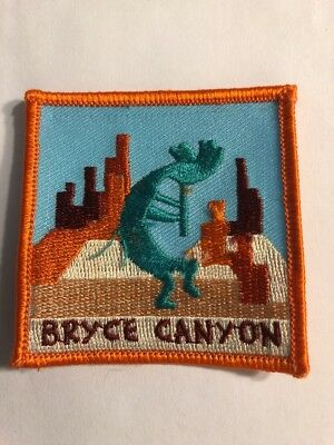 embroidered Iron On Patch Bryce Canyon Desert Kokopelli EP63 $Price Drop