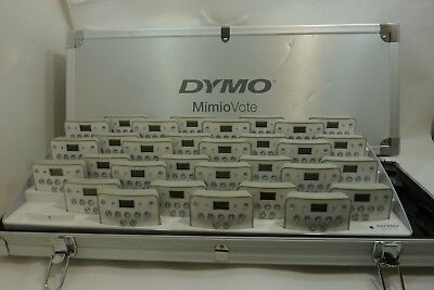 Dymo Mimio Vote Expansion 31 Remotes, Base, Charger Cable, and Case
