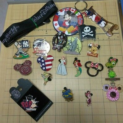 Authentic Disney WORLD & LAND Pin Trading Collection Vintage Pooh Mickey Ariel