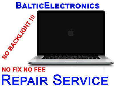 "No backlight, MacBook Pro 13"" 15"" 2008-2017 Logic board,  Repair Service"