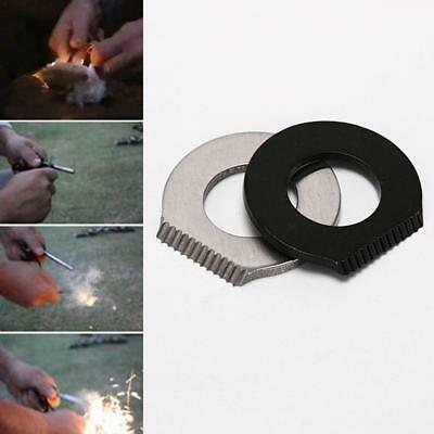 Outdoor Survival Camping Hiking Tool Flint Scraper Round Fire Starter Lighter