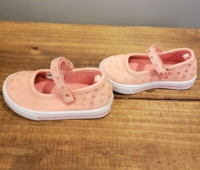 Girls Carters Pink Polka Dot Shoes Youth Size 5
