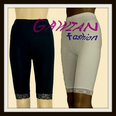 Girls Over-Knee Gym School Sports Dance Shorts Lace Ham Age 1 -14 Years Leggings