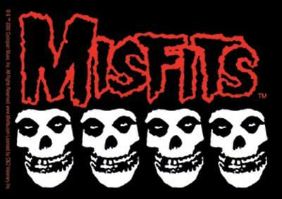 Misfits Skulls Logo STICKER - Decal Music Band Album Art SE281