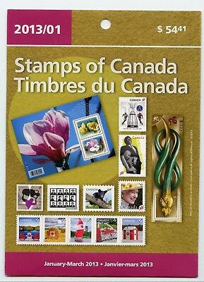 Weeda Canada 2013 January-March Quarterly Pack, sealed! Face value $65.77