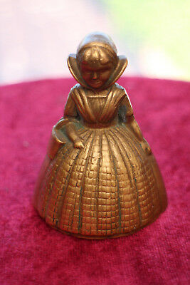 "Vintage Brass Table/Dinner Bell ""Crinoline Lady"" shaped working"