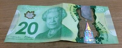 Low Serial Number On 20$ Canadian Bill
