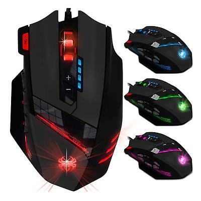 Optische Gaming-Maus kabelgebundene wired Gaming Maus USB  9200 DPI Laser Maus