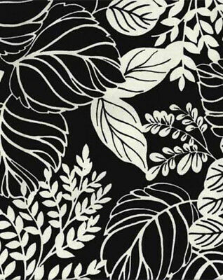 Drapery Upholstery Fabric 100 Cotton Duck Leaf Vine Floral