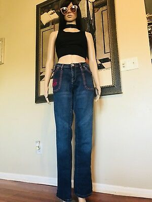 VTG Marithe Francois Girbaud Jeans Womens Size 34 Straight,blue 90s