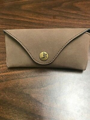 New Authentic Maui Jim Specialty Brown Suede leather case Sport Sunglass Case