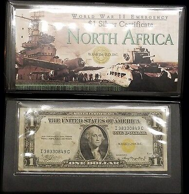 (2) 1935 A $1 North Africa & Hawaii World War II Emergency Issue Paper Currency